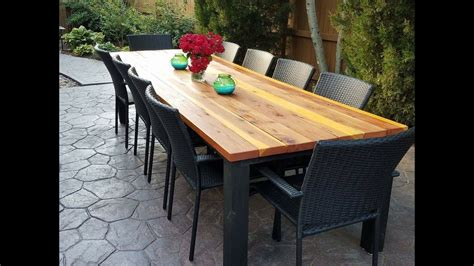 outdoor patio dining table how to build an outdoor dining table brokeasshome com