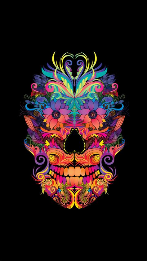 wallpaper abstract skull instant download abstract mexican skull art by