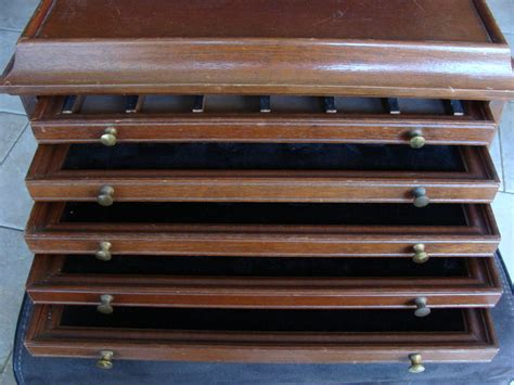 Coin Drawers by Accessories Wooden Coin Cabinet With 5 Drawers Empty