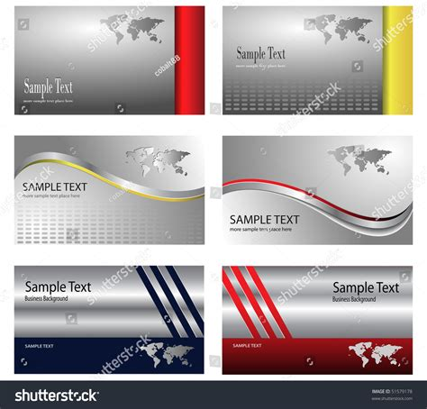 silver foil business card template business card template design silver metallic stock vector