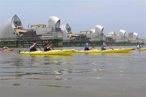 thames barrier trip barrier and back the london kayak company
