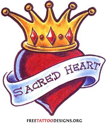 crown and heart tattoo designs winged with crown and search hearts