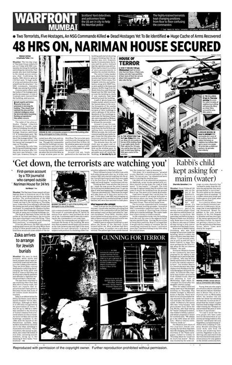 26/11 Mumbai terror attacks: How TOI covered the deadly