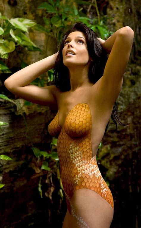 ashley greene body paint photoshoot   hawtcelebs