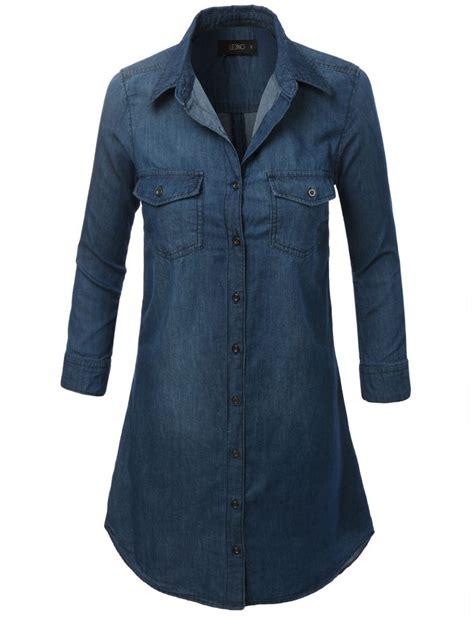 3 4 Sleeve Denim Shirt best 25 denim shirt dresses ideas on chambray