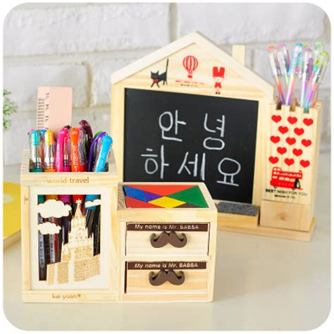 Mouse Pen Bekas multifunction wood pencil holder for pens office school