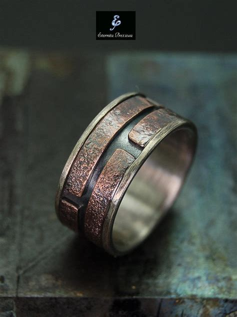 Unique Mens Ring , Men's Engagement Ring , Mens Wedding Band , Unique Wedding Ring , Unique