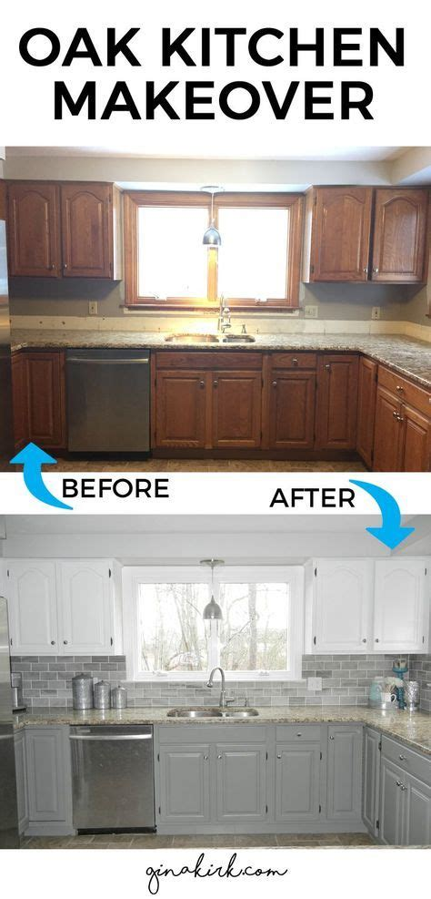 kitchen makeover diy kitchen backsplash subway tile our oak kitchen makeover subway tile backsplash white