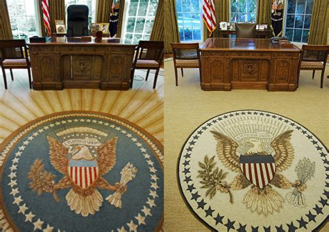 redesign oval office president obama installs appropriately less optimistic rug