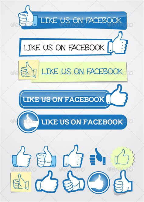 10 Facebook Buttons Free Psd Eps Vector Format Download Free Premium Templates Like Template