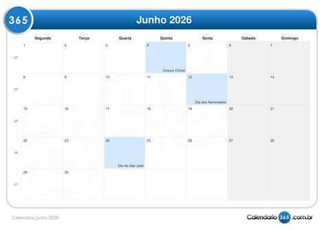 Calendario Unic Calend 225 Junho 2026