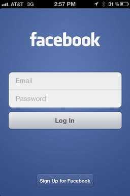 fb logout log out of facebook on the iphone ask dave taylor
