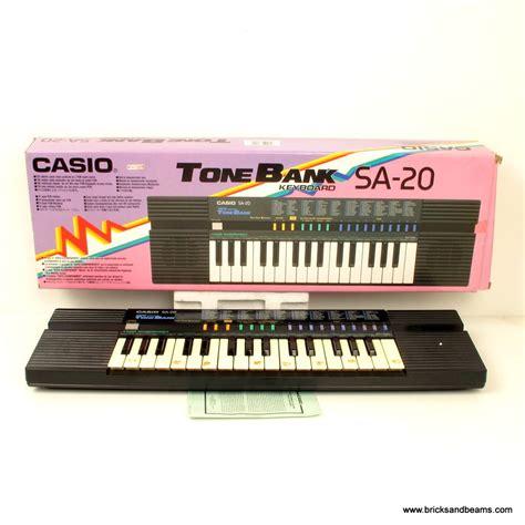 Keyboard Casio Synthesizer casio sa 20 black casio keyboard synthesizer tonebank w box great condition htf