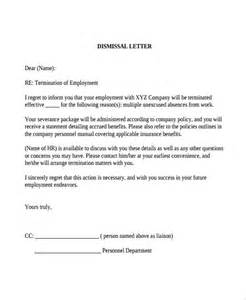Dental Appeal Letter Template Sle Dismissal Letter Template 9 Free Documents