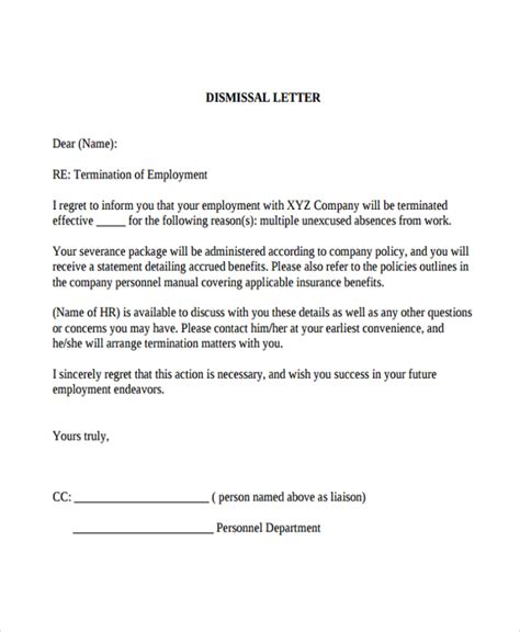 College Appeal Letter Sles Dismissal how to write an appeal letter for work dismissal cover