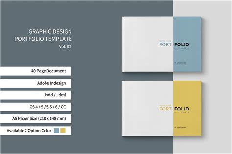 Graphic Design Portfolio Template Brochure Templates Creative Market Portfolio Template