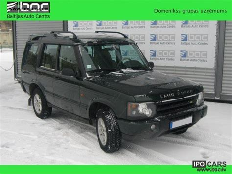 land rover discovery td5 fuel consumption 2004 land rover discovery td5 car photo and specs