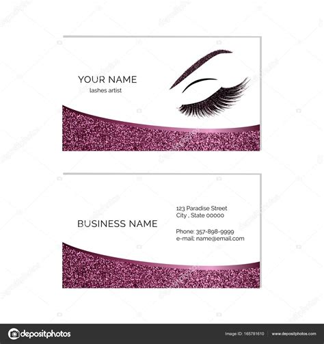 Eyelash Extension Business Card Template by Eyelash Business Cards Templates Eyelash Extension