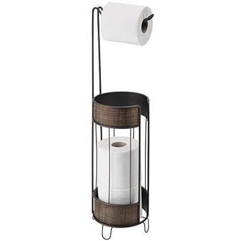 free standing toilet paper holder with storage mdesign free standing toilet paper roll holder for