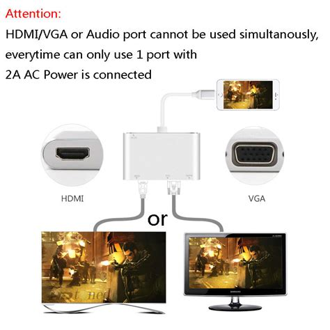 Lightning To Hdmi Vga Audio Konverter Iphone To Hdmi Vga Converter lightning to hdmi vga audio adapter for iphone 5s 6 6s 7