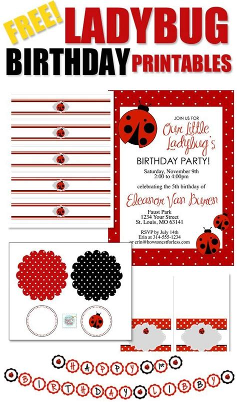 free printable ladybug birthday decorations 17 best images about paper templates on pinterest paper