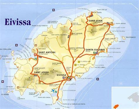 printable ibiza road map map ibiza spain