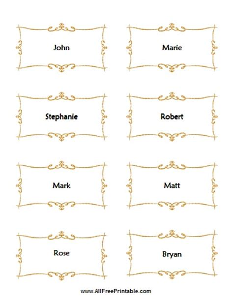 place cards for wedding free printable