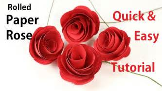 rolled paper roses template how to make rolled paper roses flowers easy