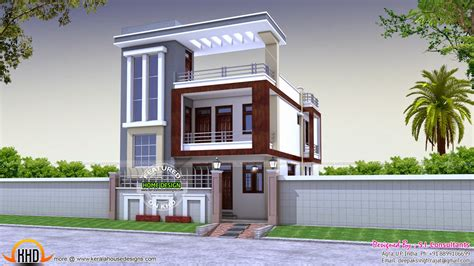 house design website flat roof decorative element home keralahousedesigns