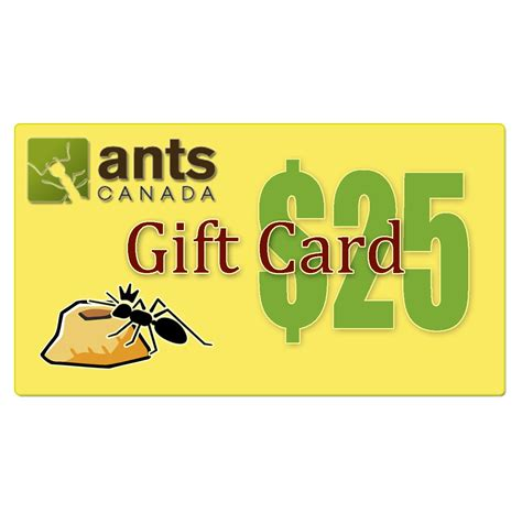 What Are E Gift Cards - e gift card 25 00 antscanada