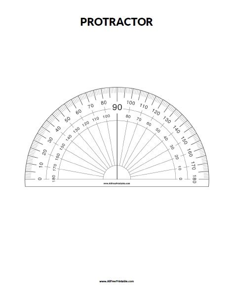 printable protractor free dorable paper protractor template image resume ideas