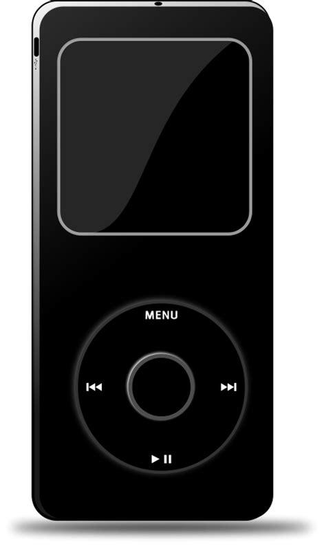Ipod (Black) Free Vector / 4Vector