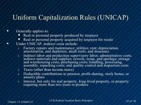 Uniform Capitalization Rules Of Section 263a 28 Images