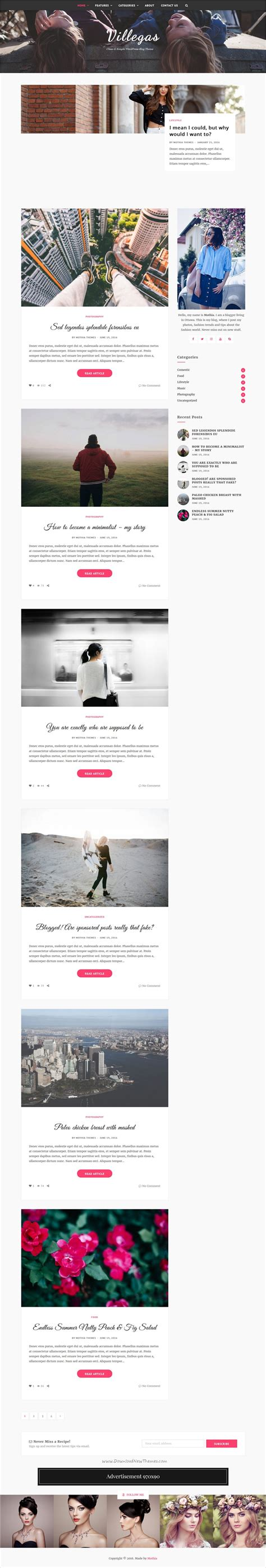 theme ref blog mothia minimal and clean wordpress blog theme