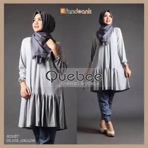 Najja Blouse Muslim Katun Serat Kayu Fit Atasan Wanita kancing depan fashion butiq laman 3