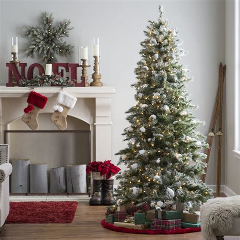 youtubecom snow for artificial christmas tree 7 5 ft pre lit flocked monteray pine tree with snow clumps by sterling tree company