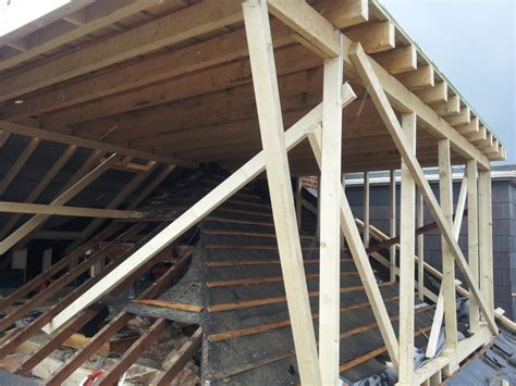 Flat Roof Dormer Construction hip to gable loft conversion mid construction flat roof dormer window to meet new gable and