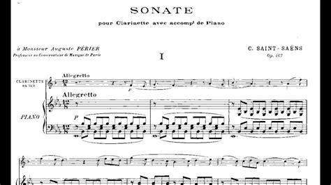 camille saint saëns clarinet sonata op 167 camille saint sa 235 ns clarinet sonata op 167 1921 youtube