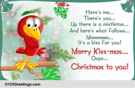 merry kiss mass    love ecards greeting cards