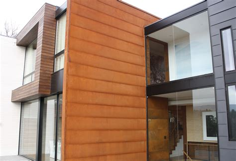 rustwall corten wall panel corten soffit and wall panel in stock at cortenroofing com