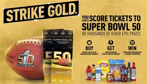 Pepsi Super Bowl Sweepstakes 2016 - pepsi 174 strike gold scratch card promotion sweepstakesbible