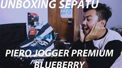 Jogger Premium Blueberry Pie unboxing and review sepatu piero jogger premium blueberry