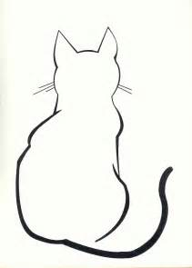 Cat Outline by Cat On Cat Drawing Cats And Black Cats