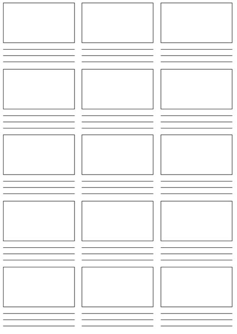 pre production studies storyboard templates