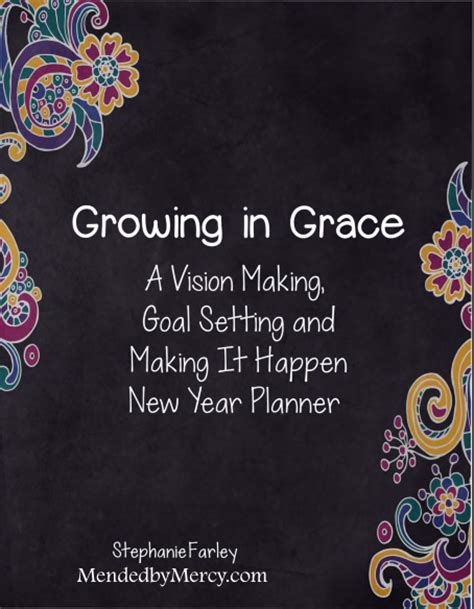 growing in grace new year planner mended by mercy