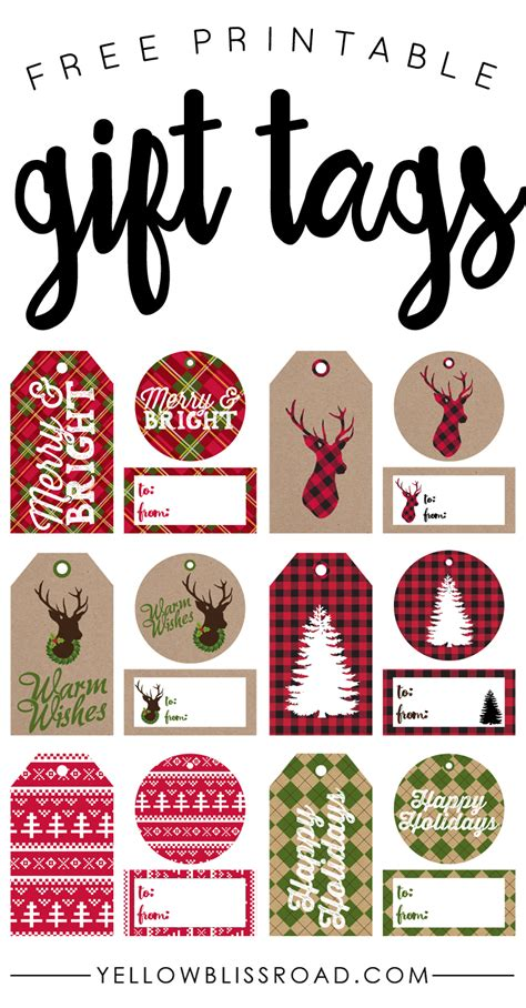 printable christmas tags rustic have yourself a merry little christmas rustic sign
