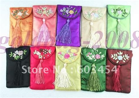 Handmade Mobile Pouch - free shipping 10 pcs handmade gauze mobile phone pouches jpg