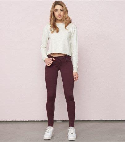 velvet burgundy high waist jegging  images cute