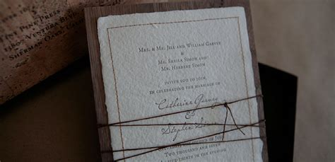 Handmade Paper Invitations - handmade paper custom wedding invitation with stitched