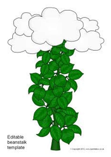 and the beanstalk template editable beanstalk leaves template plants free teaching